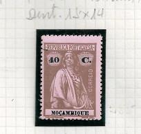 MOZAMBIQUE STAMP - 1914 CERES P.PORCELANA COL. MEDIO 15X14 Md#166 MH (LMZ#38) - Mozambique