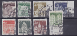 Berlin Edifices Historiques N° 271 à 277A 8 Timbres - Used Stamps