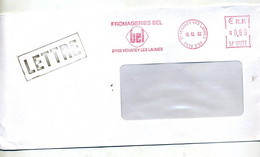 Lettre Flamme Ema Venarey Fromagerie Bel - EMA (Printer Machine)