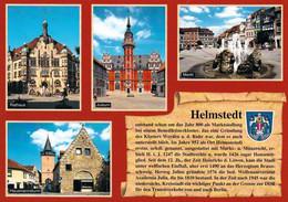 1 AK Germany * Chronikkarte Der Stadt Helmstedt - Mit Wappen, Rathaus, Hausmannsturm, Juleum D. Ehem. Universität * - Helmstedt
