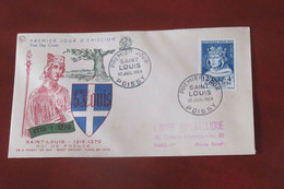 France  1954     FDC  Saint Louis - 1950-1959