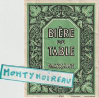 Seb : V . P : étiquette Bière :  De Table - Cerveza