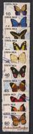 Costa Rica - 1998 - N°Yv. 631 à 640 - Papillons / Butterflies - Oblitéré / Used - Schmetterlinge