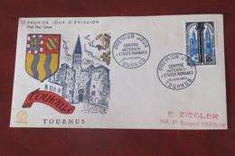 France  1954     FDC  TOURNUS - 1950-1959