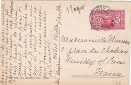 """1932 Cartolina Di Ghiffa (Scuole) Viaggiata Per La Francia Con Cent 75 """" Soc. Dante Alighieri"""" - Marcophilia"""