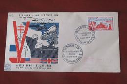 France  1954     FDC  Arromanches - 1950-1959