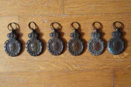 6 Médailles Second Empire   Napoleon III Médailles De Sainte Helene EMPEREUR NAPOLEON I - Avant 1871