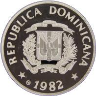 LaZooRo: Dominican Republic 10 Pesos 1982 PROOF Rare - Silver - Dominicana