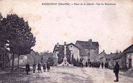21 - Cote D Or - SACQUENAY - Place De La Liberté - Vue Du Monument - Other Municipalities