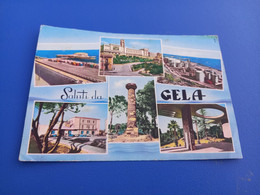 CARTOLINA SALUTI DA  GELA- VEDUTINE-VIAGGIATA 1971 - Gela
