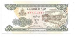 *cambodia 200 Riels 1998  Km 42b  Unc - Cambodia