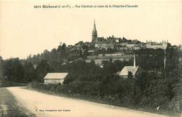 Bécherel * Vue Générale Du Village Et Route De La Chapelle Chaussée - Bécherel
