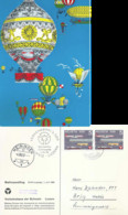 """Ballonpostflug  """"Verkehrshaus Der Schweiz, Luzern"""" - Meiringen - Brig             1959 - Covers & Documents"""