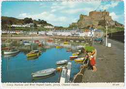 Gorey Harbour And Mont Orgueil Castel, Jersey, Channel Islands - Island