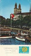 """AK  """"Zürich - Riviera""""  (Flagge: Rad WM Zürich)           1961 - Covers & Documents"""