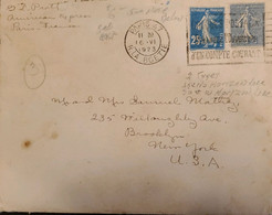 J) 1923 FRANCE, THE SHOWER, WITH SLOGAN CANCELLATION, POSTCARD, POSTAL STATIONARY, CIRCULATED COVER, FROM FRANCE TO USA - Non Classificati