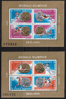 1988 Romania Olympic Medal Winners At Summer Olympic Games In Seoul Minisheets (** / MNH / UMM) - Verano 1988: Seúl