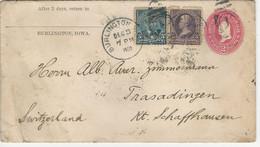 Sc U362 + 268 (damaged). 281 O Burlington 1900 To Switzerland - Sin Clasificación