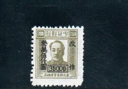 CHINE DU NORD-EST 1949 SANS GOMME - Chine Du Nord-Est 1946-48