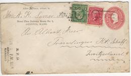 Sc U362 + 297, 301 O Argonia Kansas 1903 To Switzerland - Sin Clasificación