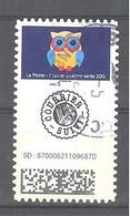 France Autoadhésif Oblitéré N°1921 (Chouettes - Timbre Suivi) (cachet Rond) - 2010-.. Matasellados