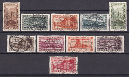 Saargebiet - 1934 - Michel Nr. 179/188 - Gestempelt - Gebraucht