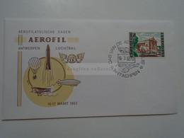 D182230  Belgium  Cover  - Enveloppe FDC 1963 Aerofilatelische Dage Aerofil  - Antwerpen - Luchtbal FISA Ballon Airplane - 1961-70