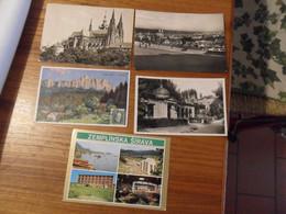 5 Cartoline  CECOSLOVACCHIA  Diverse - Slovacchia