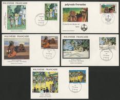 N° 222 à 226 Sur 5 Enveloppes Premier Jour De 1984, Cote Des Timbres Détachés = 8 €. - FDC