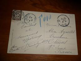 Cartolina  SUSA SPEDITA IN FRANCIA  TASSATA  CHIFFRE TAXE  1910 - Altre Città
