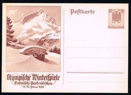 Deutsches Reich Olympische Winterspiele Garmisch-Partenkirchen 1936 15+10 P 258 - Brieven En Documenten