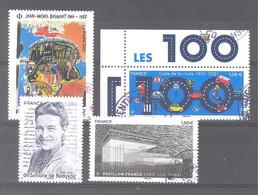 France Oblitérés : Code De La Route - Pavillon France Expo Dubaï - N°5466 (Basquiat) Et 5471 (de Beauvoir) (cachet Rond) - 2010-.. Matasellados