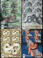 2015 Samoa WWF Pacific Tree Boa Minisheet Set (** / MNH / UMM) - Nuevos