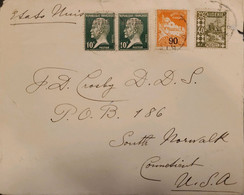 J) 1990 FRANCE, ARGELIA, LOUIS PASTEUR, MULTIPLE STAMPS, AIRMAIL, CIRCULATED COVER, FROM FRANCE TO USA - Non Classificati