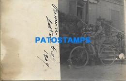 166085 ITALY RIMINI COSTUMES CHILDREN IN CYCLING BIKE SPOTTED CIRCULATED TO FIRENZE POSTAL POSTCARD - Non Classificati