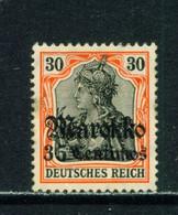 GERMAN PO'S IN MOROCCO  - 1911-18 Deutches Reich Definitive 35c On 30pf Hinged Mint - Deutsche Post In Marokko