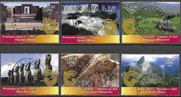 United Nations UNO UN Vereinte Nationen Geneva Genf 2007 Unesco Heritage South America Michel 577-82 Used Gest. Oblitéré - Gebraucht