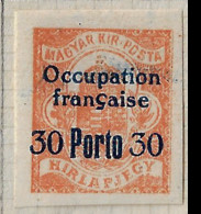 FD(b) Arad ( Hongrie) Occupation Française / Hungary * (MH )  1919  Taxe 3 - Unused Stamps