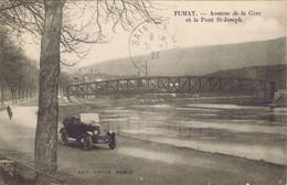 08 - Fumay (Ardennes) - Avenue De La Gare Et Le Pont Saint-Joseph - Fumay