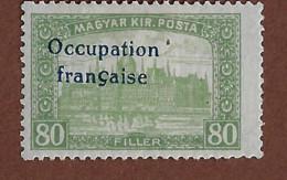 FD(b) Arad ( Hongrie) Occupation Française / Hungary * (MH )  1919 N 17 Surcharge Décalée - Unused Stamps