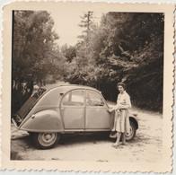 Photo Originale 1961 Une Citroën 2 Cv Et Sa Conductrice Née Tetrel ! - Automobile