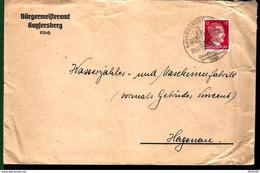 LETTRE DE KAYSERSBERG - 1943 - POUR HAGUENAU - Alsace-Lorraine