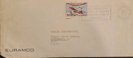 J) 1958 FRANCE, AIRPLANE, WITH SLOGAN CANCELLATION, AIRMAIL, CIRCULATED COVER, FROM FRANCE TO OHIO - Non Classificati