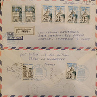 J) 1985 FRANCE, UNESCO, TEMPLE, REGISTERED, MULTIPLE STAMPS, AIRMAIL, CIRCULATED COVER, FROM FRANCE TO HABANNA - Non Classificati