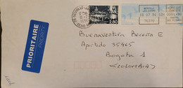 J) 1994 FRANCE, METTER STAMPS, AIRMAIL, CIRCULATED COVER, FROM FRANCE TO COLOMBIA - Non Classificati