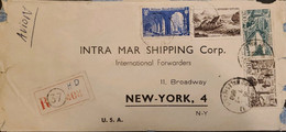 J) 1950 FRANCE, LANDSCAPE, REGISTERED, MULTIPLE STAMPS, AIRMAIL, CIRCULATED COVER, FROM FRANCE TO NEW YORK - Non Classificati