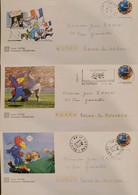 J) 1998 FRANCE, INDUSTRIAL, COMMERCIAL, SPORTS CITY, FOOTBALL, MULTIPLE STAMPS, SET OF 3, FDC - Non Classificati