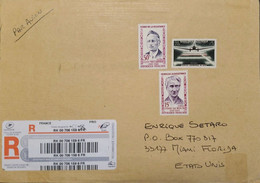 J) 2013 FRANCE, AIRPLANE, HEROES OF RESISTANCE, MULTIPLE STAMPS, AIRMAIL, CIRCULATED COVER, FROM FRANCE TO USA - Non Classificati
