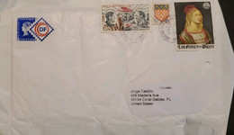 J) 2017 FRANCE, SHIELD, PAINTING, MULTIPLE STAMPS, AIRMAIL, CIRCULATED COVER, FROM FRANCE TO USA - Non Classificati