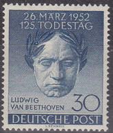Berlin,  1951, 87, MNH **,  Ludwig Van Beethoven. - Ungebraucht